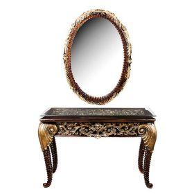 Консоль со стеклом и зеркало настенное