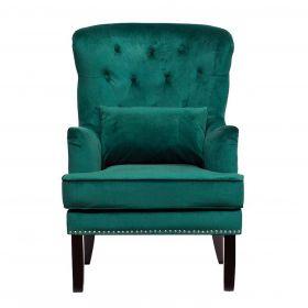 Кресло бархатное с подушкой