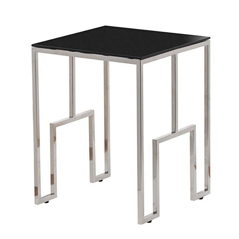 Журнальный стол с черным стеклом