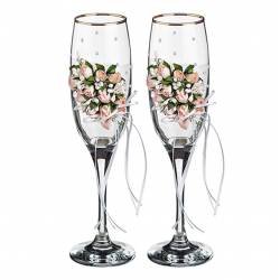 Набор бокалов для шампанского 2 штуки