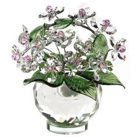 Хрустальные цветы в вазе