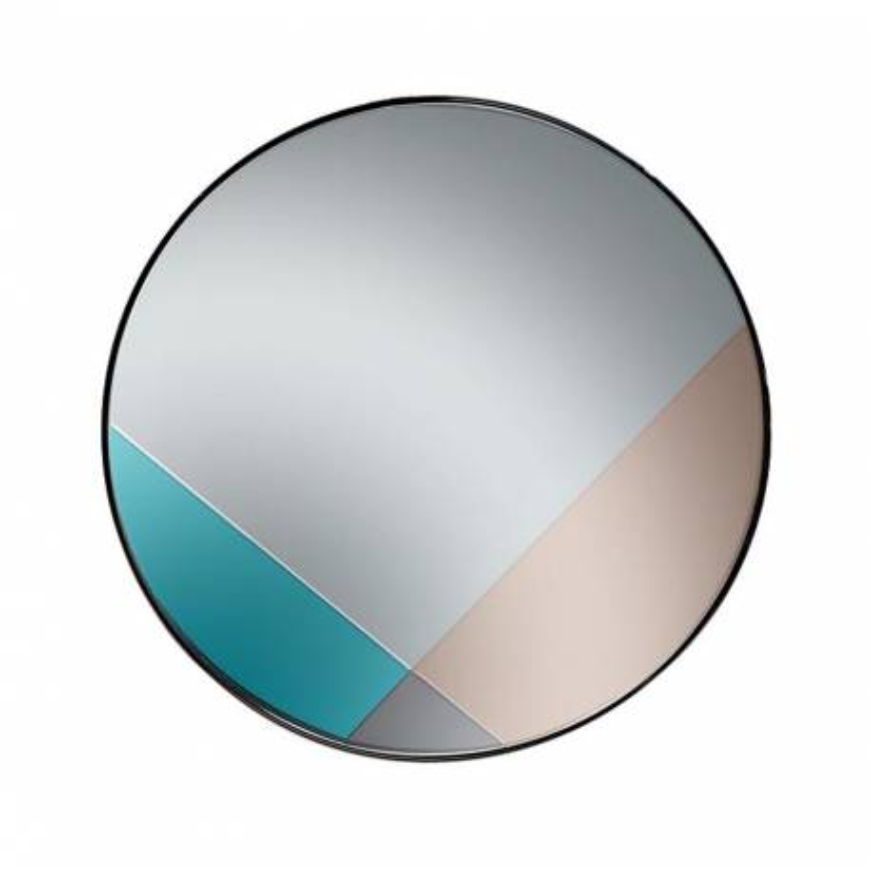 Зеркало со вставками четырехцветное