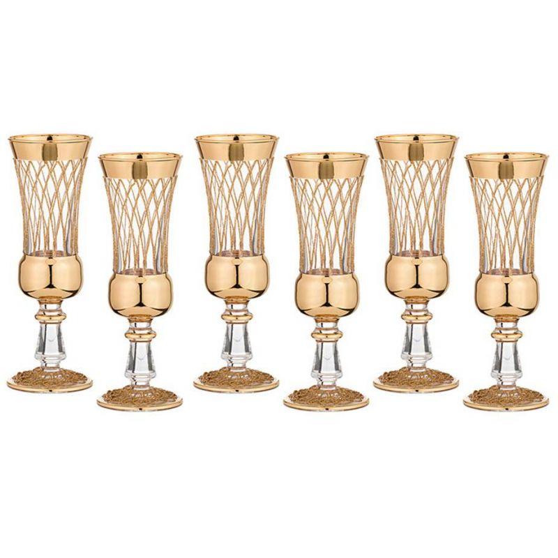 Набор бокалов для шампанского  6 штук