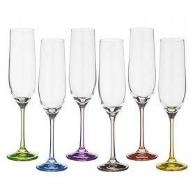 """Бокалы для шампанского 6 штук """"Рейнбоу"""""""