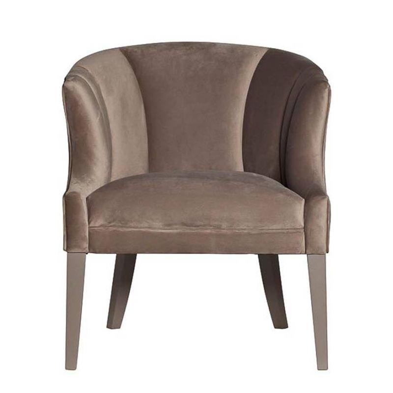 Кресло низкое велюровое