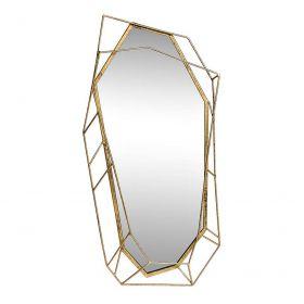 """Зеркало в объемной раме """"Золотистый камень"""""""