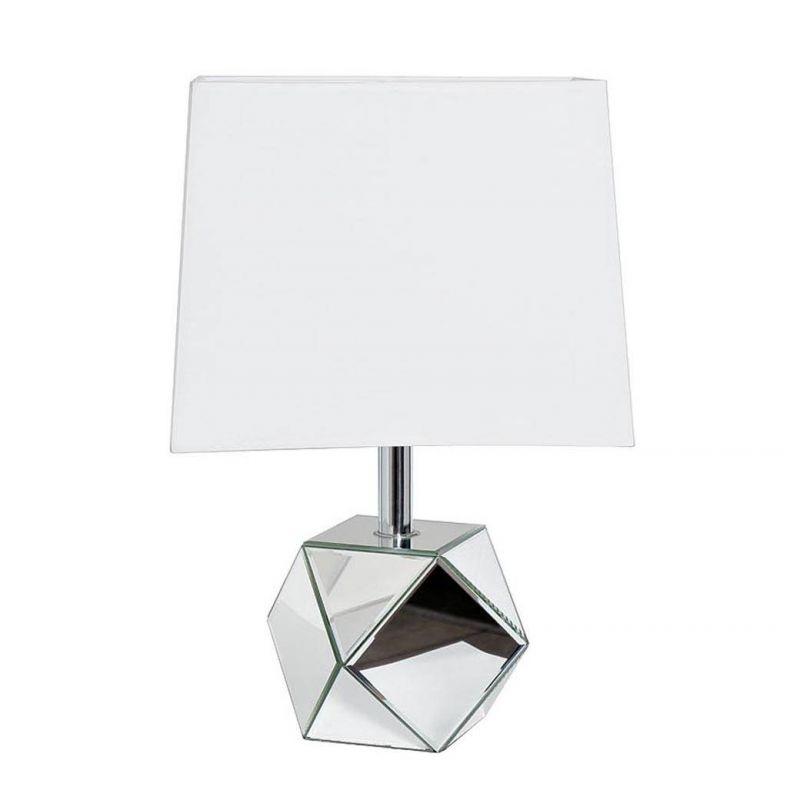 Лампа настольная с зеркальными вставками