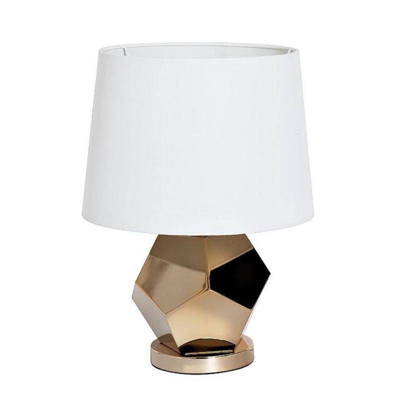 Лампа настольная золотая