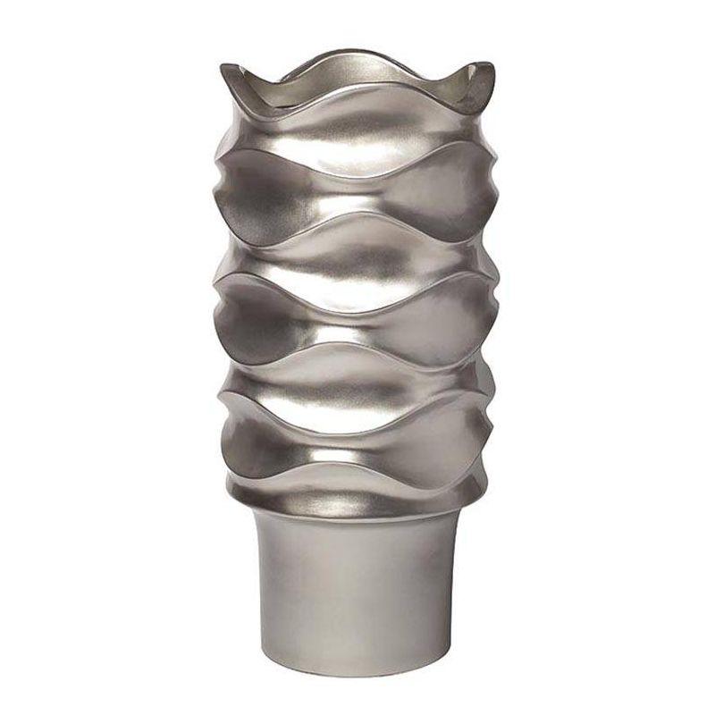 Кашпо напольное серебряное