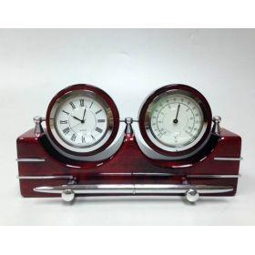 Настольный набор (часы, термометр, ручка)