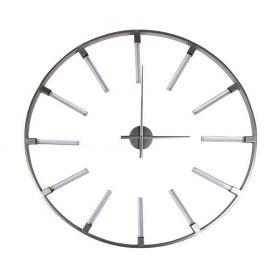 Часы настенные круглые серебристые