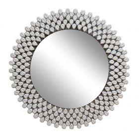 Зеркало круглое со стразами