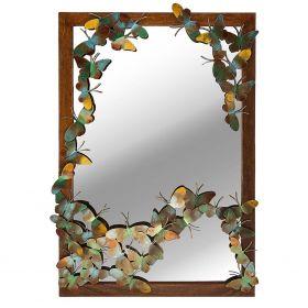 """Зеркало настенное прямоугольное """"Бабочки"""""""