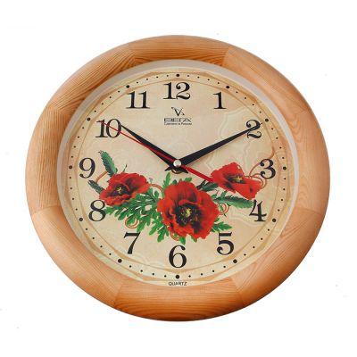 Часы настенные Сюжетные Д1НД/7-137 Мак дерево