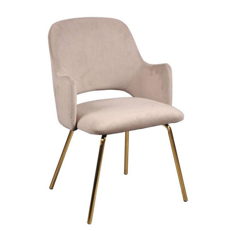 Кресло велюровое на металлических ножках