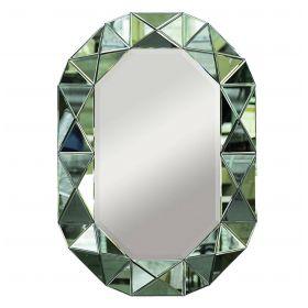 Зеркало настенное зеленая зеркальная рама