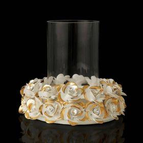 """Подсвечник """"Цветы"""", цвет белый, 33 см"""
