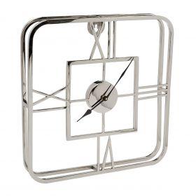 Часы настенные металлические квадратные