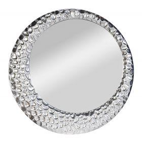 Зеркало круглое в серебристой раме