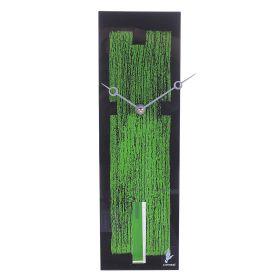 Часы настенные, черно-зеленые