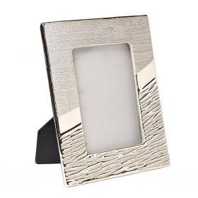 Фоторамка керамическая серебряная