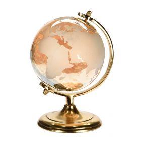 Глобус декоративный стеклянный янтарь