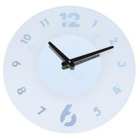 Часы настенные круглые, белая основа под цифры