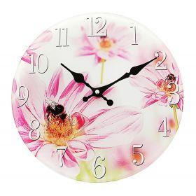 "Часы настенные круг ""Пчелка на цветочке"""