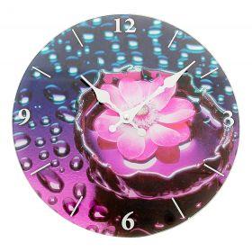 """Часы настенные круг """"Цветок в воде"""""""