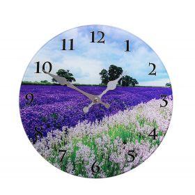 "Часы настенные круг ""Лавандовое поле"""