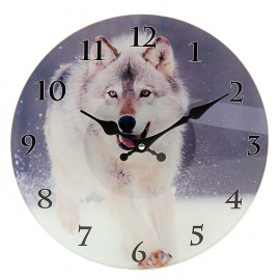 "Часы настенные круг ""Волк"""