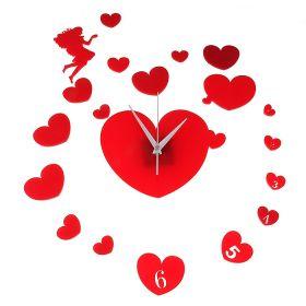 Часы настенные, Сердце с обрамлением сердец