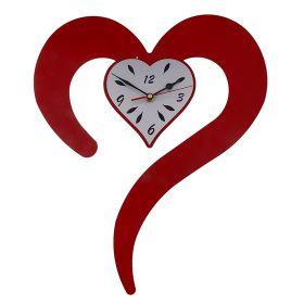 """Часы интерьерные """"Сердце в виде запятой"""""""