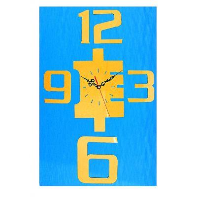 Часы-наклейка, Цифры 3,6,9,12 большие, многоразового использования, хром