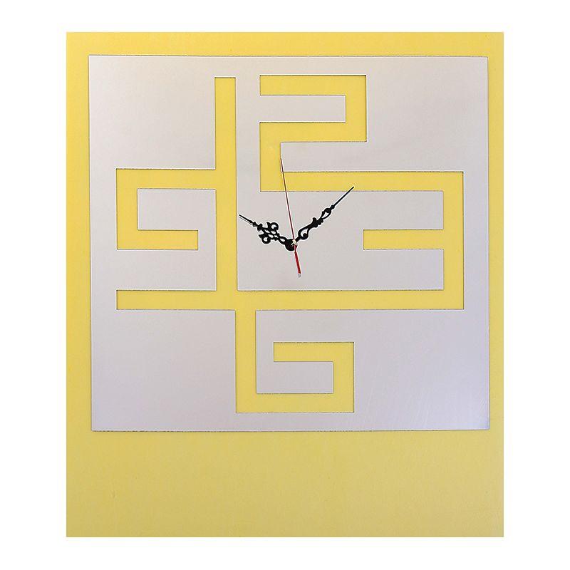 Часы-наклейка, Цифры к квадрате, многоразового использования, хром