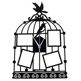 """Часы настенные """"Клетка"""", 4 вставки фоторамки"""