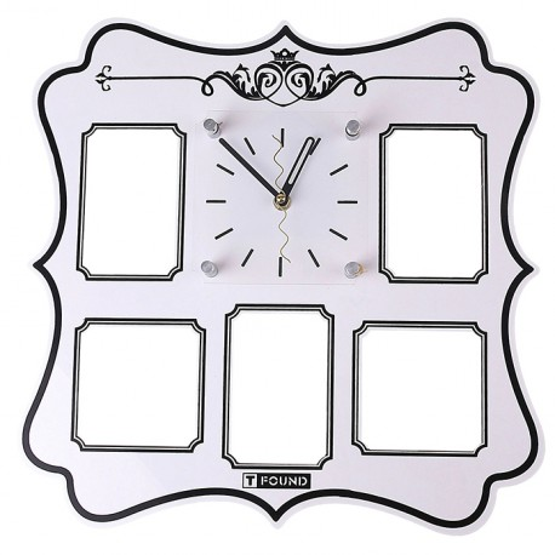 Часы настенные Резные 5 вставок фоторамки