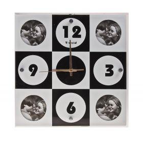 Часы настенные, квадратные, 4 фоторамки