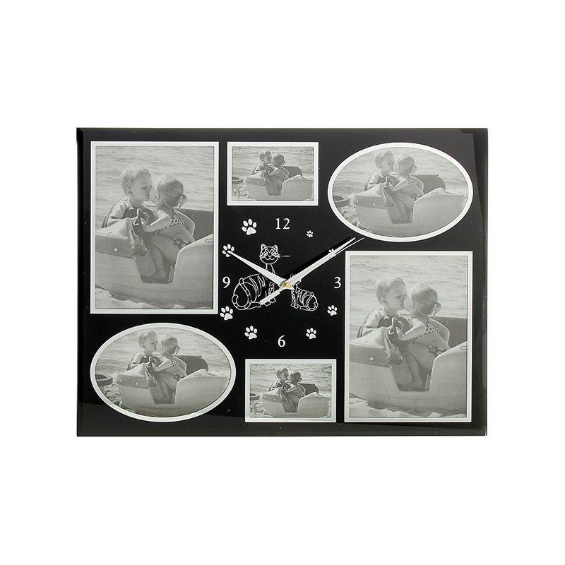 Часы настенные 6 фоторамок разной формы