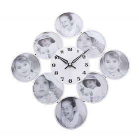 Часы настенные ромб+8 фоторамок 38*38см