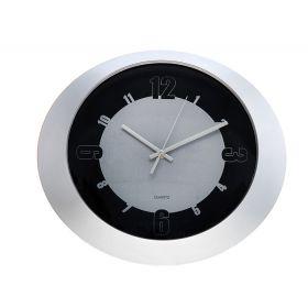 Часы настенные овальные, черная каемка