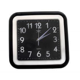 Часы настенные квадрат, кант черный