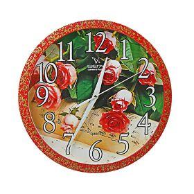"""Часы настенные """"Цветы"""" Розы"""