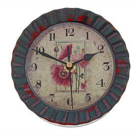 Часы настенные круг рифленный на циферблате Маки