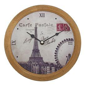 Часы настенные круг с большими кантом золото на циферблате Достопрмечательности