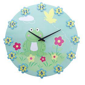 """Часы настенные, """"В цветочках лягушечка"""""""