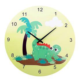 """Часы настенные, """"Динозаврик с пальмой"""""""