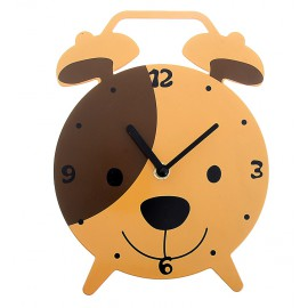 """Часы настенные в виде будильника """"Щенок"""", подставка"""