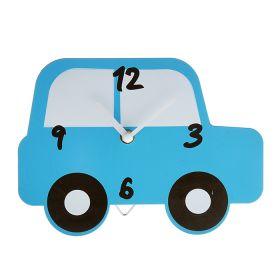 """Часы настенные """"Машинка синяя"""", подставка"""