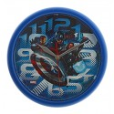 Часы настенные детские 123401 круглые синие Мстители Marvel